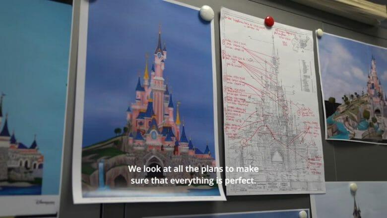 Projeto da reforma do castelo da Disneyland Paris
