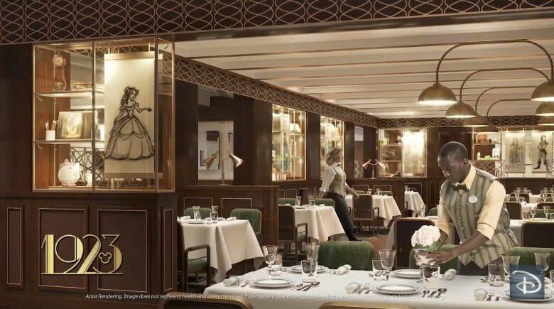 Divulgação do restaurante temático 1923 inspirado na era de ouro do cinema de Hollywood