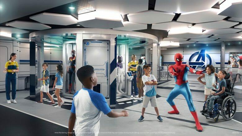 Homem-Aranha com as crianças na divulgação da Marvel Superhero Academy