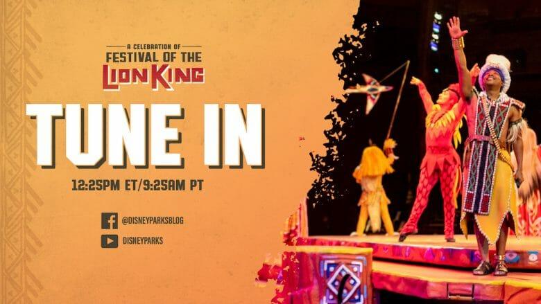 Anúncio da transmissão ao vivo do show do Rei Leão