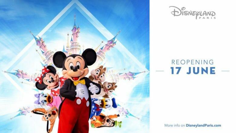 Imagem de divulgação da reabertura da Disneyland Paris.