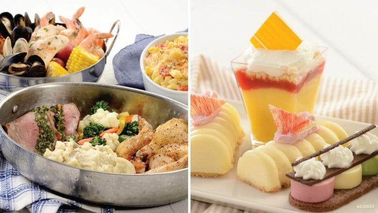 Foto de diversos alimentos oferecidos no Cape May, que vai reabrir.
