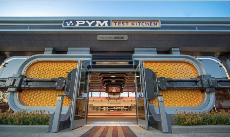 Restaurante PYM Test Kitchen com comidas temáticas. Imagem: Disney
