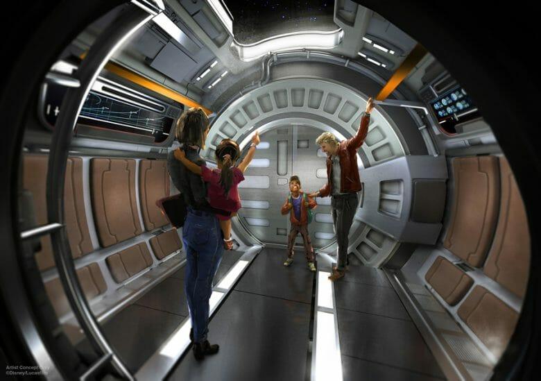 Embarque do hotel de Star Wars será pelo Launch Pod. Imagem: Disney