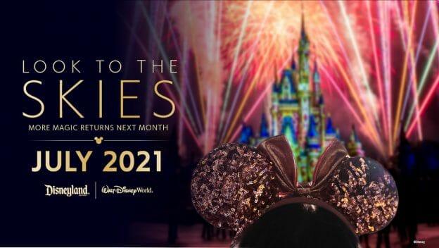 Volta dos shows de fogos aos parques de Orlando e da Califórnia a partir de julho.
