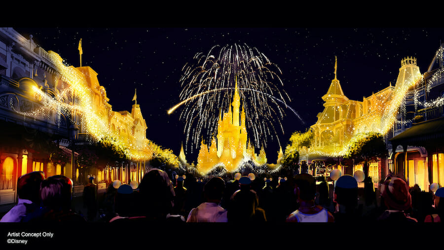 imagem novo show de fogos do Magic Kingdom