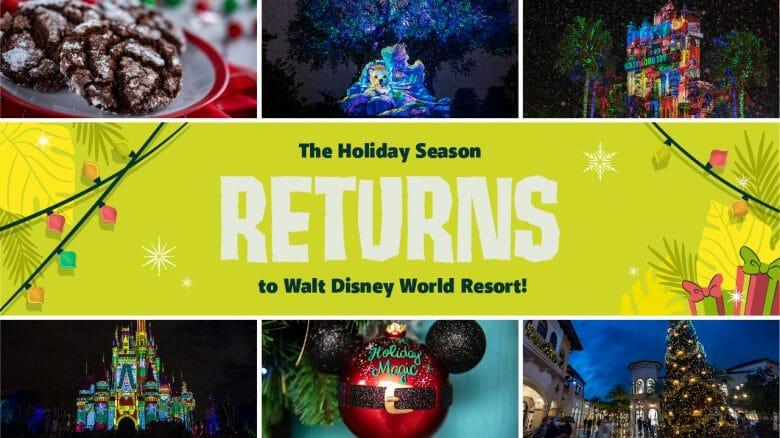 Divulgação dos detalhes das comemorações de Natal da Disney em 2021.