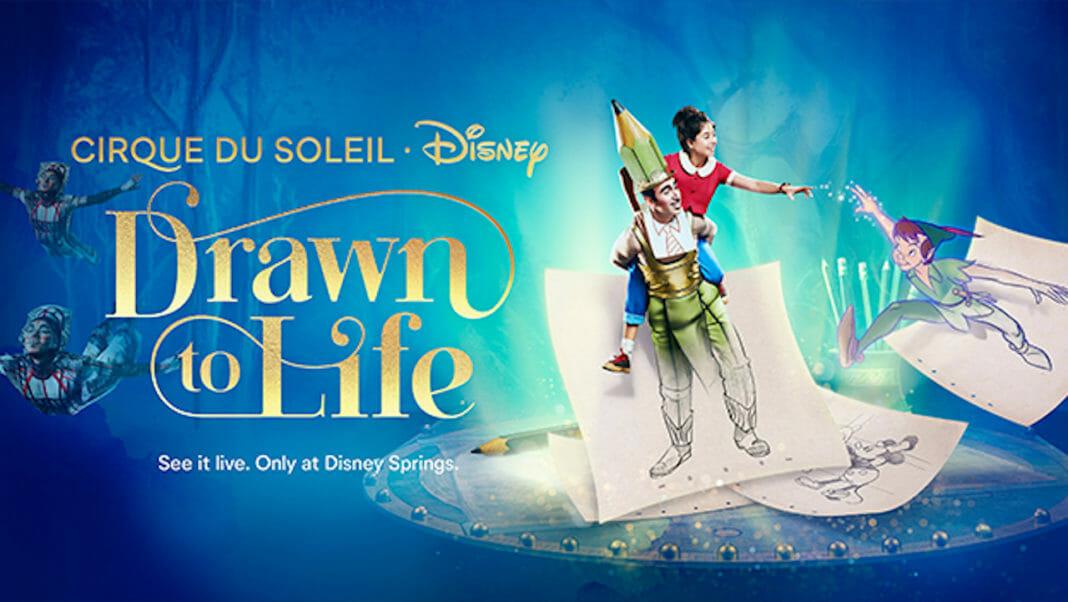 Pôster do novo show do Cirque du Soleil no Disney Springs.