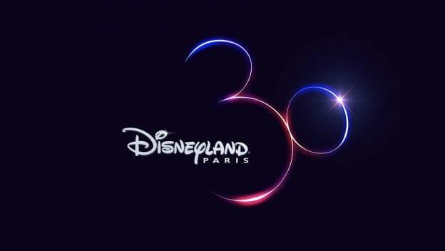 Logo do aniversário de 30 anos da Disneyland Paris que forma uma orelha de Mickey. A data de início das comemorações foi divulgada.