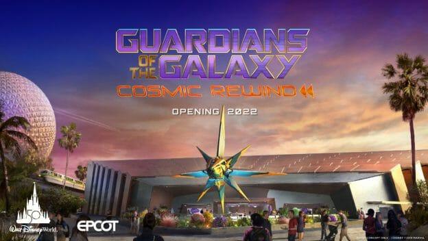 Anúncio da abertura da atração Guardians of the Galaxy: Cosmic Rewind