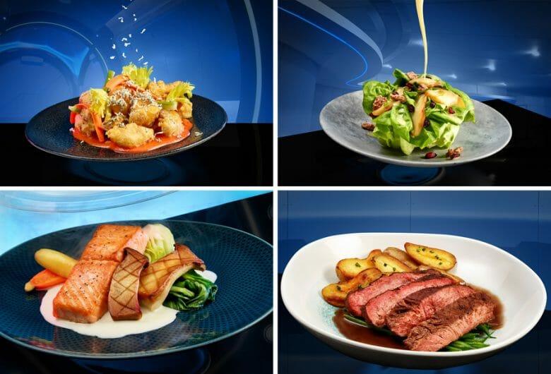 Alguns dos pratos do cardápio do restaurante Space 220.